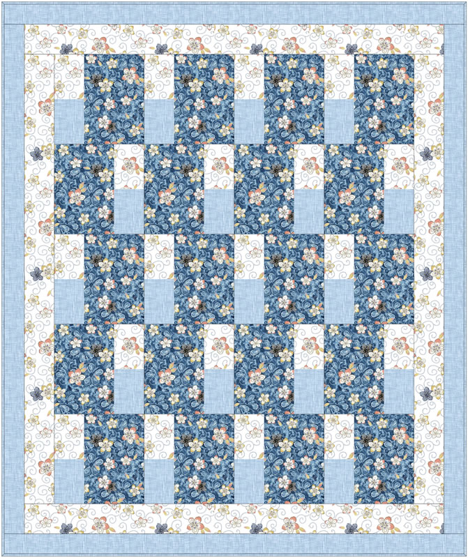 """Simply Blocks"" Free Charity Quilt Pattern designed by the Fabric Cafe from Free Caring Quilt Patterns"