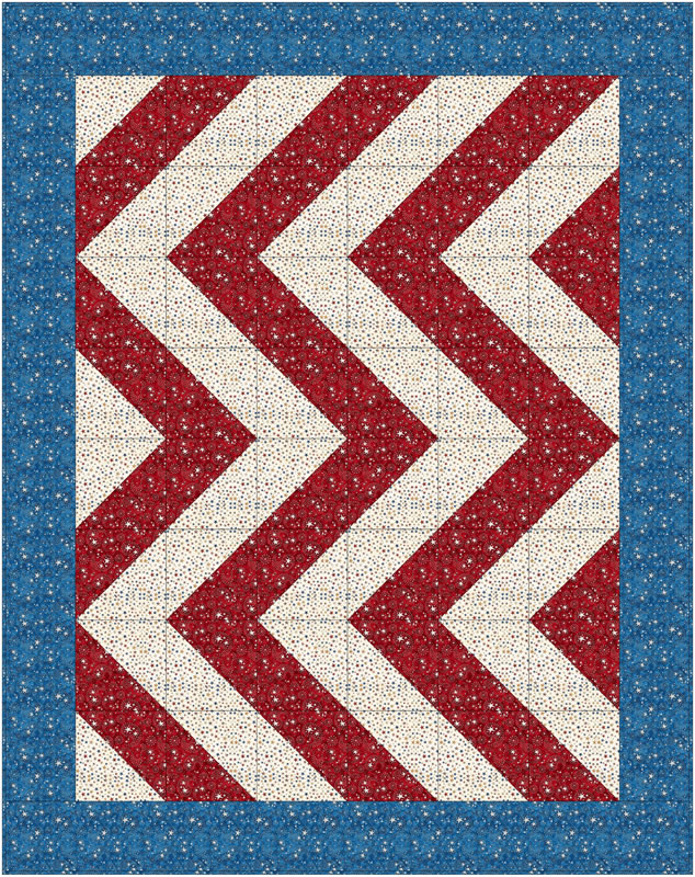 """Zig Zag Quilt"" Free Charity Quilt Pattern designed by the Fabric Cafe from Free Caring Quilt Patterns"